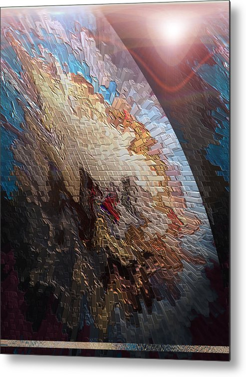 Metal Print featuring the digital art Spacescape 1 by Beverly Kimble Davis