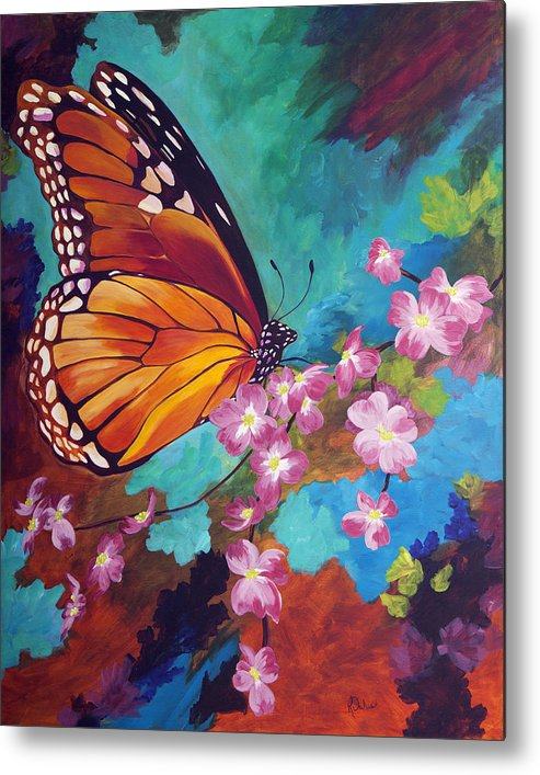 Butterfly Metal Print featuring the painting Spring Morning by Karen Dukes