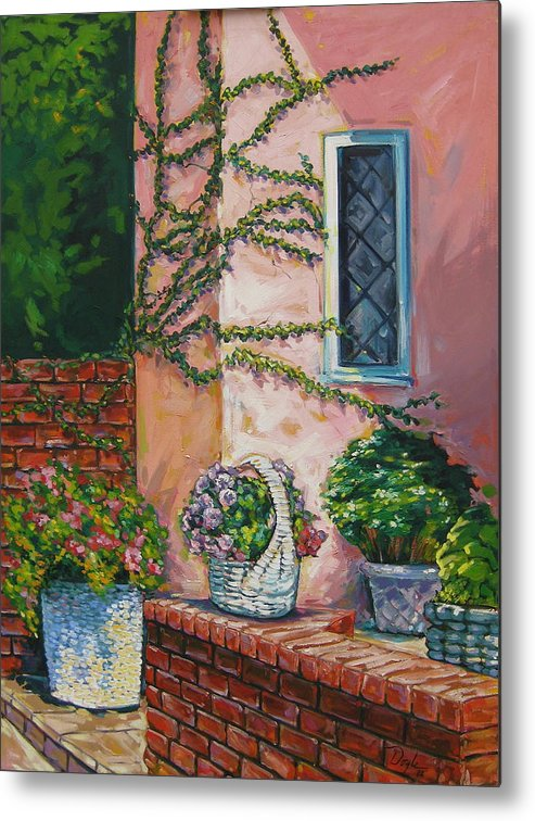 Pink Metal Print featuring the painting Springtime by Karen Doyle