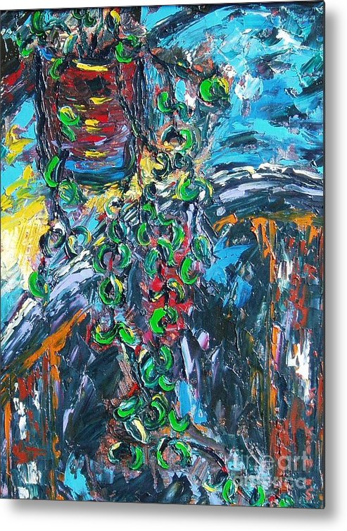 Sjkim Art Metal Print featuring the painting Abstract Still Life by Seon-Jeong Kim