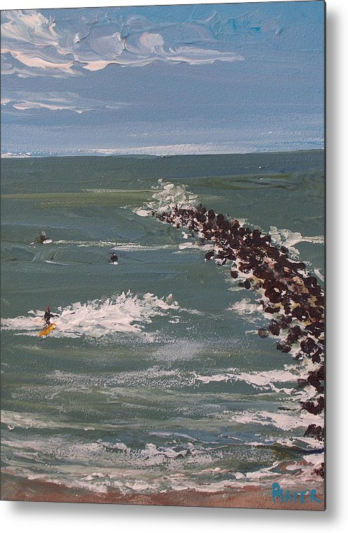 Seascape Metal Print featuring the painting Surf's Up by Pete Maier