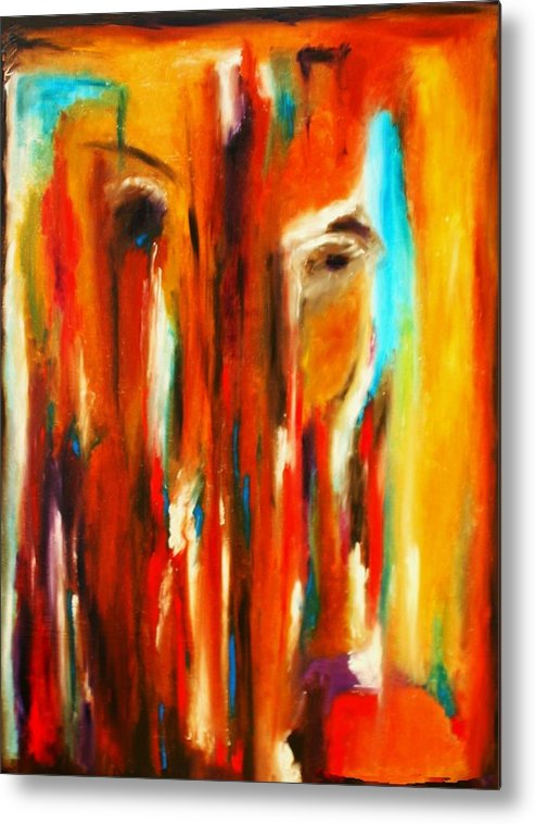 Abstract Metal Print featuring the painting Tears For Haiti by Vel Verrept
