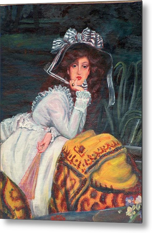 Bonnet Metal Print featuring the painting The Bonnet by Sylvia Stone