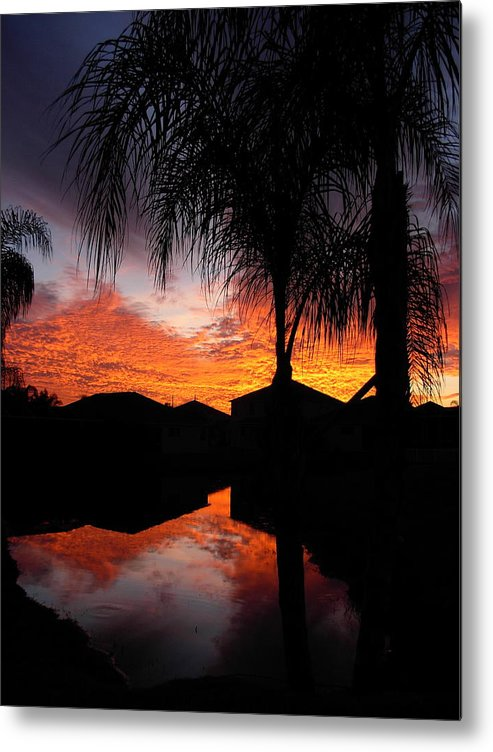 Sunsets Metal Print featuring the photograph The Devil's Reflection by Amanda Vouglas