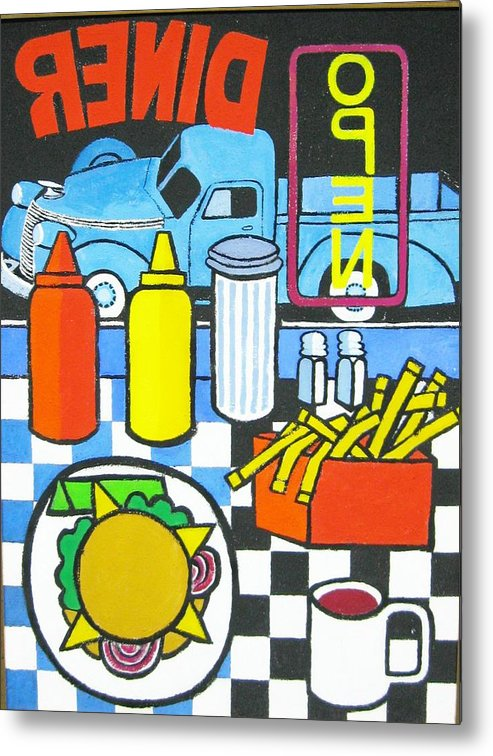 Diner Metal Print featuring the painting The Diner by Nicholas Martori