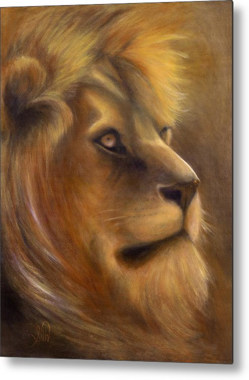 Regal Metal Print featuring the painting The King by Elizabeth Silk