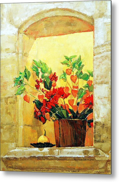 Still Life Metal Print featuring the painting The Light by Iliyan Bozhanov