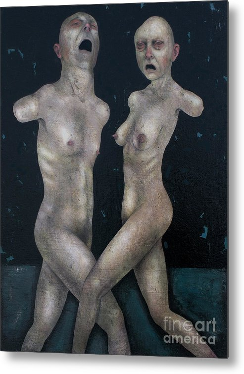 Dancing Metal Print featuring the painting The Lovers by Craig LaRotonda