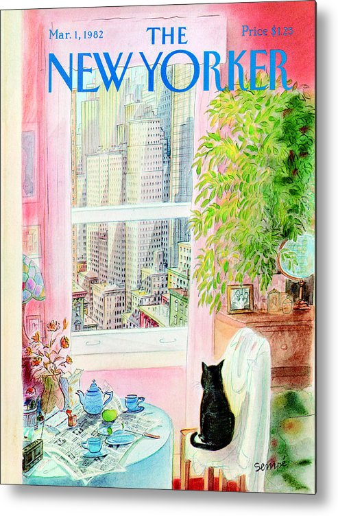 Apartment Metal Print featuring the painting The New Yorker Cover - March 1, 1982 by Jean-Jacques Sempe