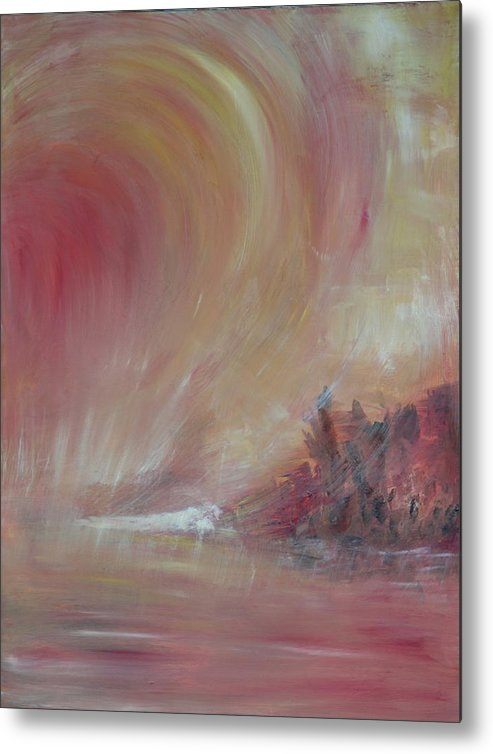 Abstract Metal Print featuring the painting The Universe by Taly Bar