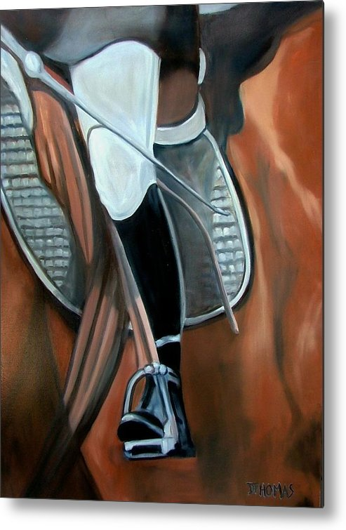 Horse Metal Print featuring the painting The Whip by Donna Thomas