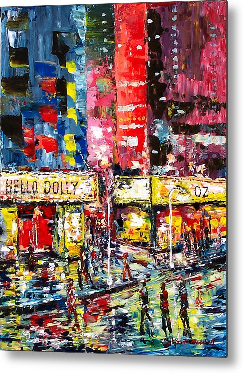 Abstract Metal Print featuring the painting Theatre Avevue by Claude Marshall