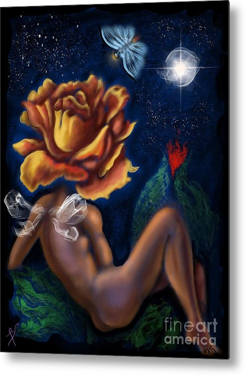 Metal Print featuring the digital art Tryst By Night  by Tighe O'DonoghueRoss