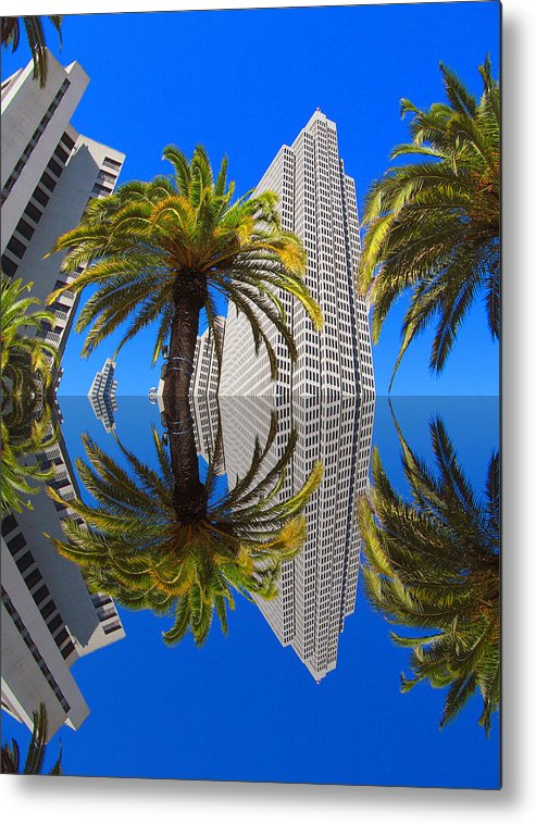 Union Square Metal Print featuring the photograph Union Square Skyscrapers by Tina M Wenger