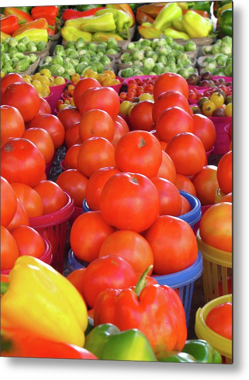 Tomato Metal Print featuring the photograph Veggies by J Havnen