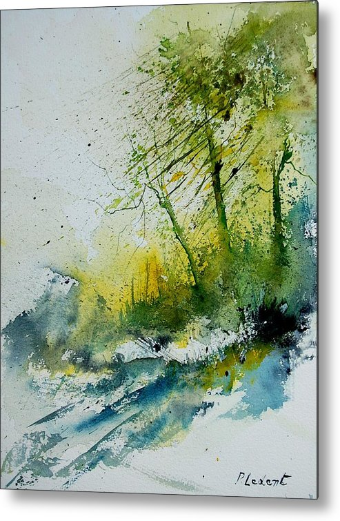 River Metal Print featuring the painting Watercolor 181207 by Pol Ledent