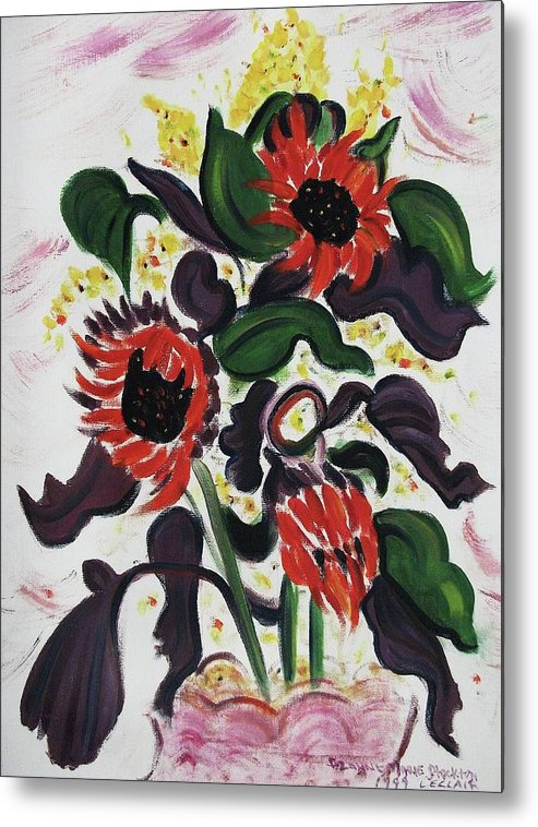 Flowers Metal Print featuring the painting Wild Flowers by Suzanne Marie Leclair