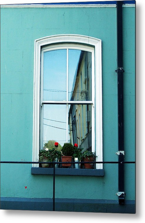 Irish Metal Print featuring the photograph Window In Ennistymon Ireland by Teresa Mucha