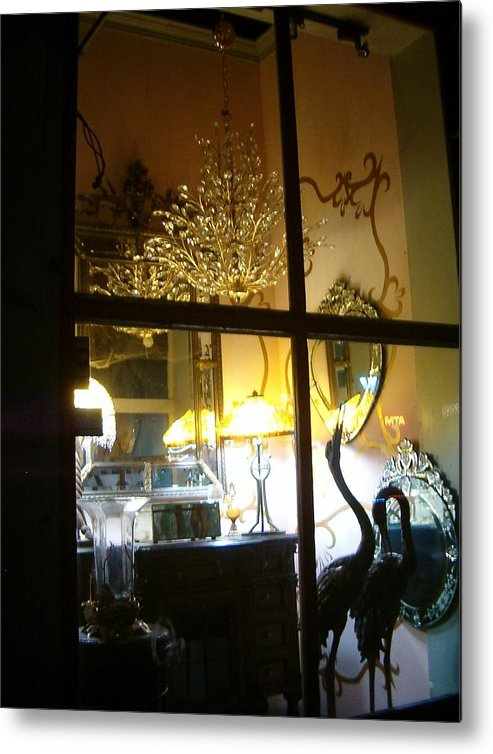 Widows Metal Print featuring the photograph Window Shopping In The French Quarter by Heather S Huston