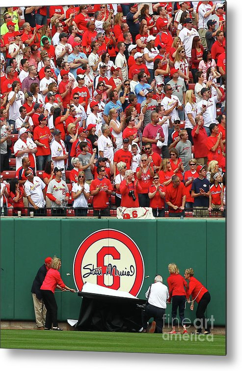 St. Louis Cardinals Metal Print featuring the photograph Cincinnati Reds V St. Louis Cardinals 15 by Dilip Vishwanat
