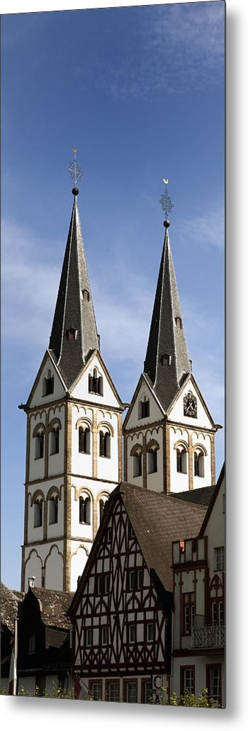 Steeple Metal Print featuring the photograph Steeples by Cecil Fuselier