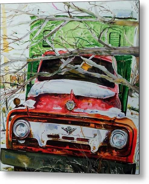 Truck Metal Print featuring the painting Abandoned Delivery by Scott Nelson