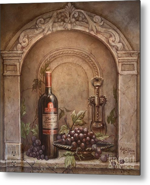 Wine Metal Print featuring the painting Cabernet No.95 by Martin Lacasse