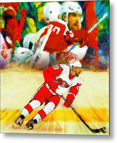 Henrik Zetterberg Metal Print featuring the painting Over The Boards by John Farr