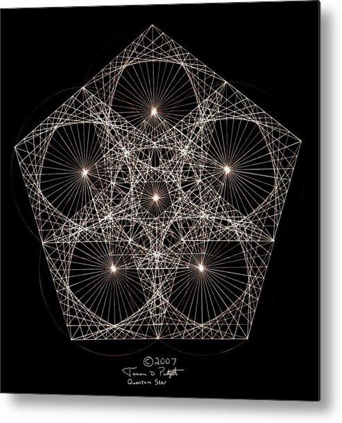 Star Metal Print featuring the drawing Quantum Star II by Jason Padgett
