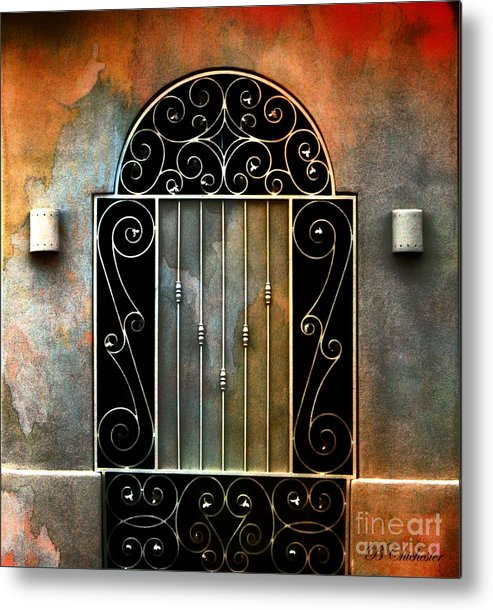 Gate Prints Metal Print featuring the photograph Spanish Influence by Barbara Chichester