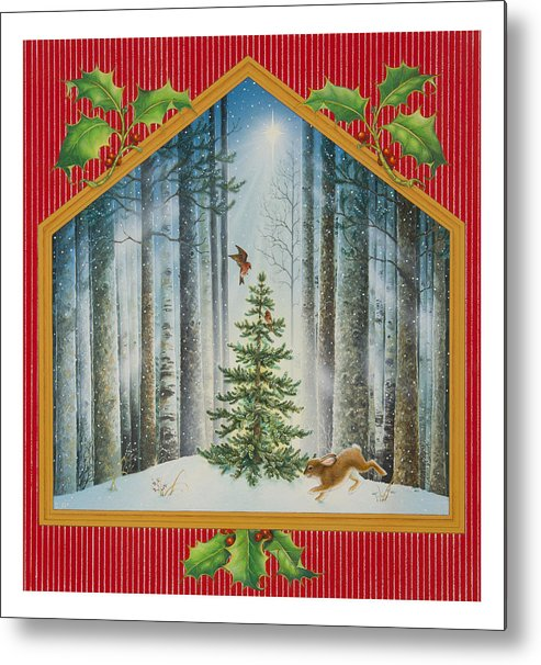Christmas Metal Print featuring the painting The Fir Tree by Lynn Bywaters