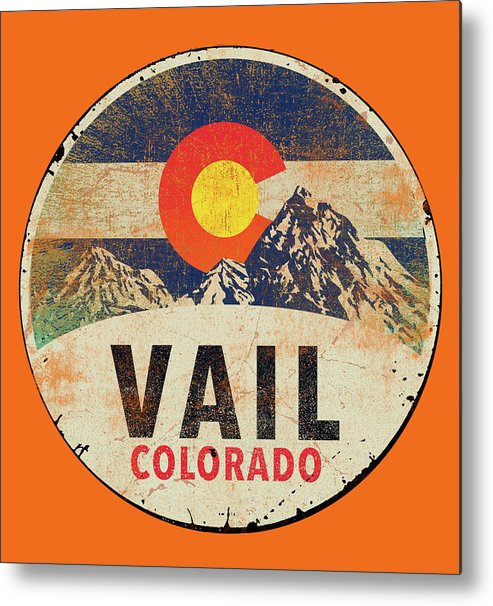 Sentiment Metal Print featuring the painting Vail by Jim Baldwin
