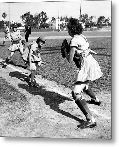 1940s Portraits Metal Print featuring the photograph Baseball, Kenosha Comets Play by Everett