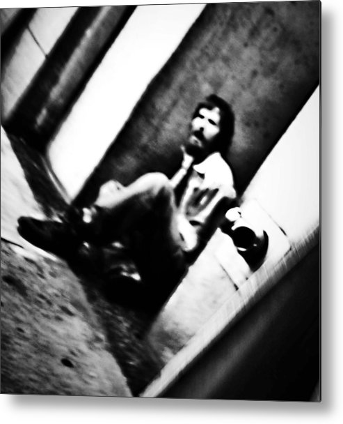 Black And White World Photographer Metal Print featuring the photograph Blurred Time by The Artist Project