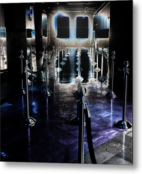 Empire State Building Interior Metal Print featuring the photograph Eerie Waiting Area by Catherine Morgan