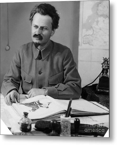 20th Century Metal Print featuring the photograph Leon Trotsky (1879-1940) by Granger