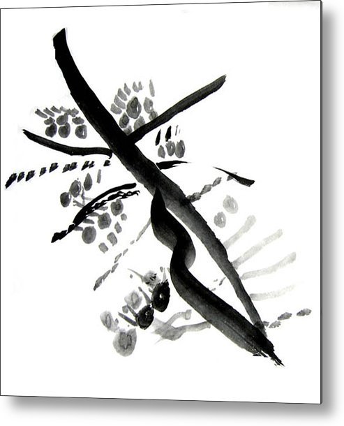 Chinese Brush Metal Print featuring the painting Chinese Brush Ll by Teri Ann Foley