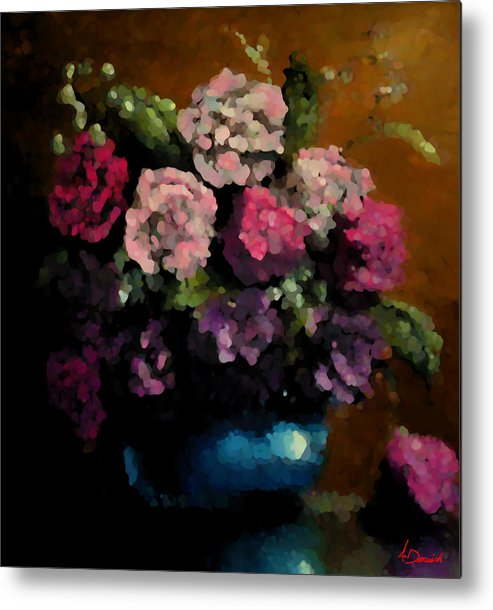 Flora Metal Print featuring the painting Flower Arrangement by Ahmed Darwish