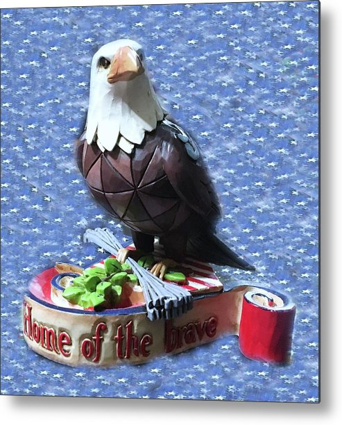 Metal Print featuring the photograph Freedom Eagle by Miriam Marrero