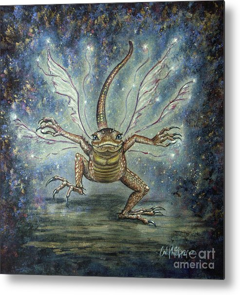 Fairy Metal Print featuring the mixed media Glitterkin by Carol Phillips