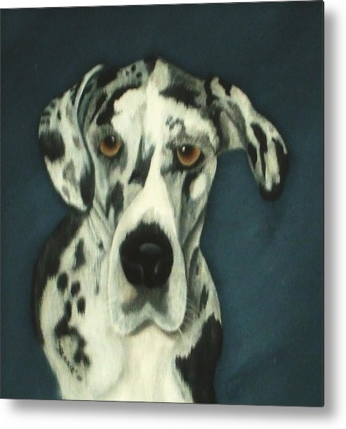 Portraites Metal Print featuring the painting Haley by Rebecca Fitchett