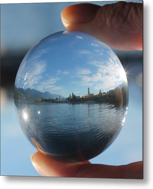 Kaslo Metal Print featuring the photograph Kaslo Through The Looking Glass by Cathie Douglas