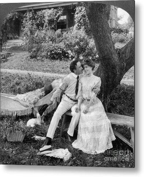20th Century Metal Print featuring the photograph Love, 1906 by Granger