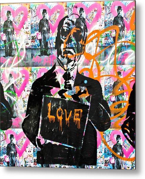 Darren Metal Print featuring the photograph Love Chaplin by Darren Scicluna