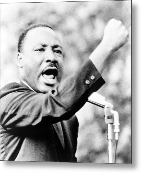 History Metal Print featuring the photograph Martin Luther King, Jr., Gesturing by Everett
