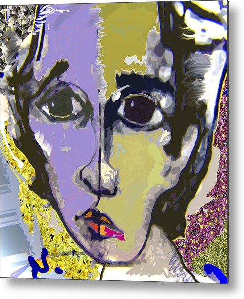Portrait Metal Print featuring the mixed media Projection by Noredin Morgan