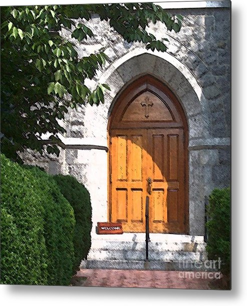 Church Metal Print featuring the photograph Sanctuary by Debbi Granruth