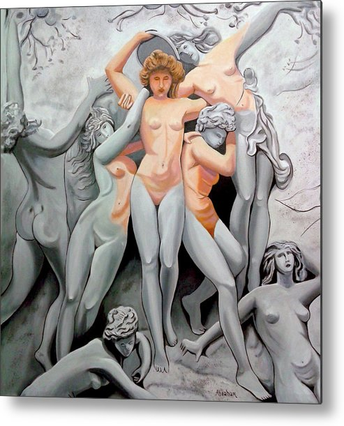 Statue Women Metal Print featuring the painting Statue 3 by Jose Manuel Abraham