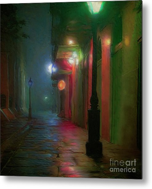 Painting Metal Print featuring the painting Street Scene by Ted Guhl