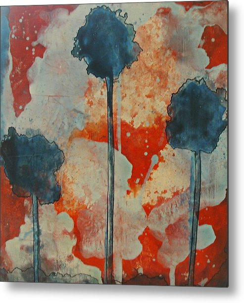 Forest Metal Print featuring the painting Sueno-del-verano by Christy Sobolewski